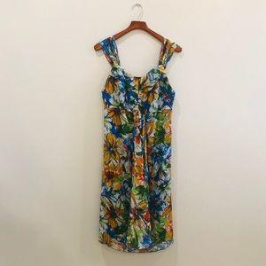 LANE BRYANT | floral sheer midi dress size 16